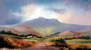 Brecon Beacons, pastel by Jenny Keal