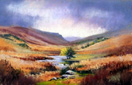 Elan Valley, pastel by Jenny Keal